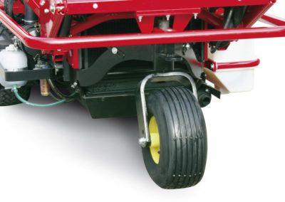Single wheel, for swiftness and lightness.